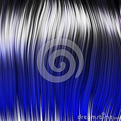Blue rock wig