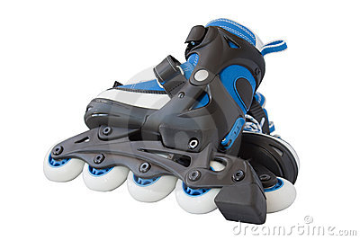 Blue roller skates