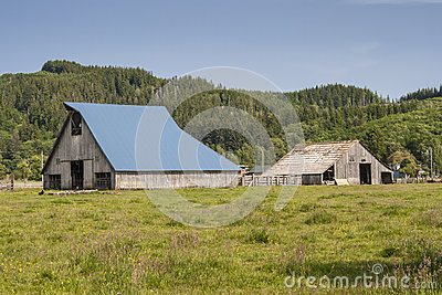 Blue Roof on Barn
