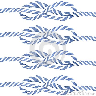 Free Blue Rope Knot  Eight Hand Drawn Watercolor Stock Images - 48907674