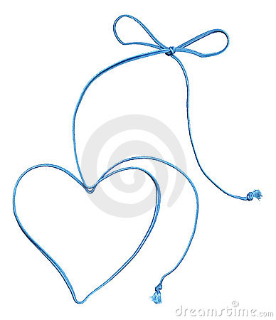 Free Blue Rope Swirl With Heart And Bow Stock Images - 12345914