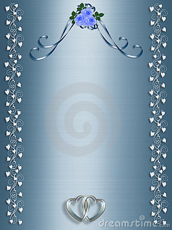 Free Vector Wedding Clipart Blue Roses Templ...