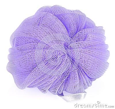 Blue round bath sponge