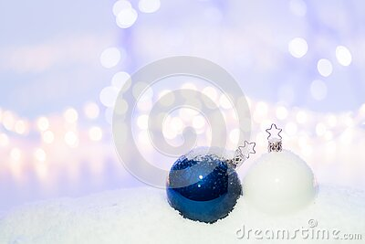 Blue Round Christmas Ornament On Snow Free Public Domain Cc0 Image