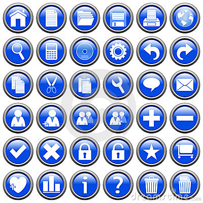 Blue Round Web Buttons [1]