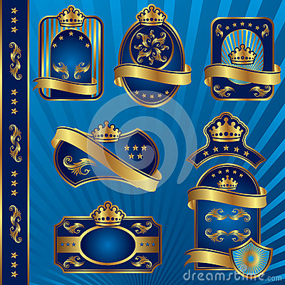 Blue royal labels blank