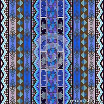 Blue rug design