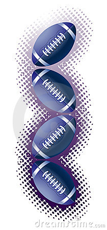 Blue Rugby Balls And Haftone Stock Image - Image: 14382671