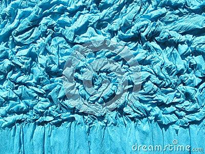 Blue rumple paper