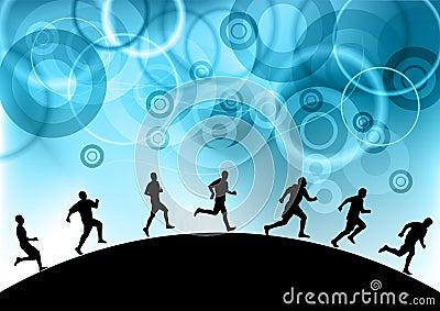 Blue runners