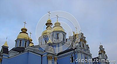 Blue russian church