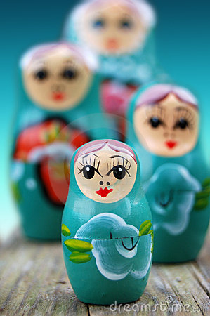 Free Blue Russian Dolls Stock Photos - 2362073