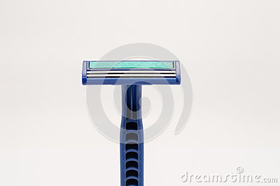 Blue safety razor