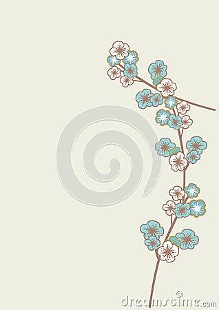 Blue sakura flowers