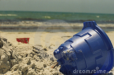 Blue Sand Toy on Beach