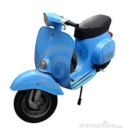 Free Blue Scooter Royalty Free Stock Image - 2929126