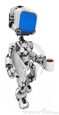 Blue Screen Robot, Coffee Break