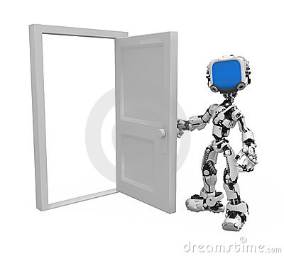 Blue Screen Robot, Door