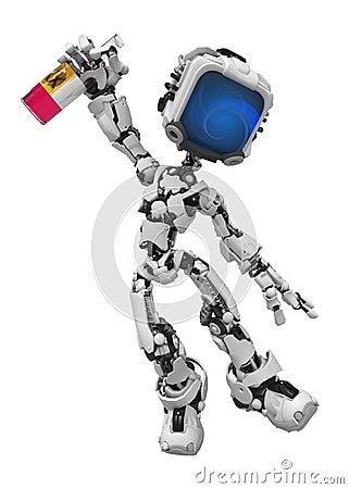 Blue Screen Robot, Drunk