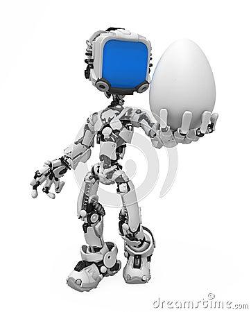 Blue Screen Robot, Egg