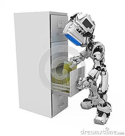 Blue Screen Robot, Filing Cabinet