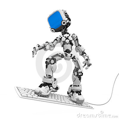 Blue Screen Robot, Keyboard Surf