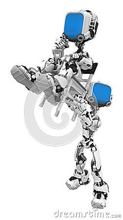 Blue Screen Robots, Chair Lift