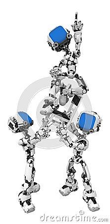 Blue Screen Robots, Chair Pose