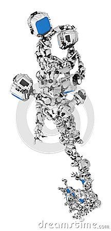 Blue Screen Robots, Group Stunt Rise