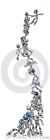Blue Screen Robots, Pyramid Stunt Tower