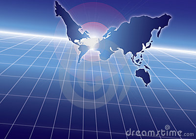 Blue sea globe strategy (with ai file)
