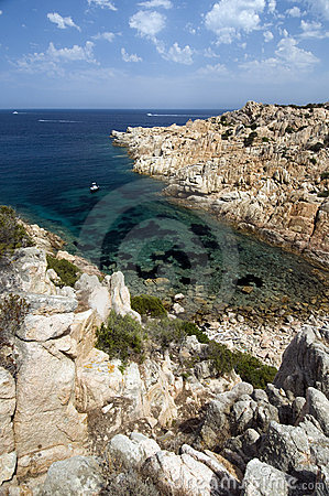 Blue sea in Sardinia.