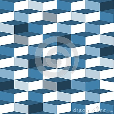 Blue seamless box pattern