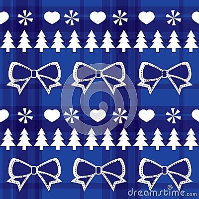 Blue seamless Christmas pattern