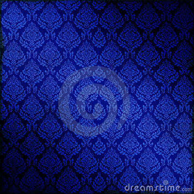 Blue Seamless Damask