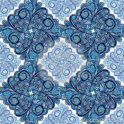 Blue seamless with rhombuses