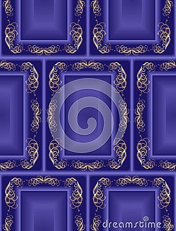 Blue seamless vintage background