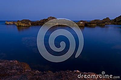 Blue seas in Ghar Lapsi - Malta