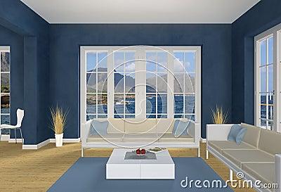 Blue seaside Living room