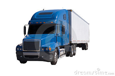 Blue Semi With Trailer