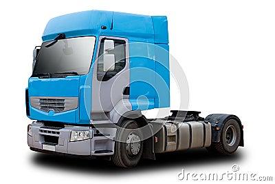 Blue Semi Truck Cab