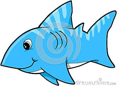 Blue Shark Vector
