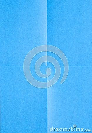 Blue sheet of paper folded