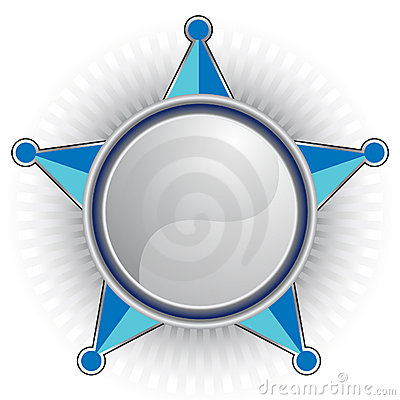 Blue Sheriff Star