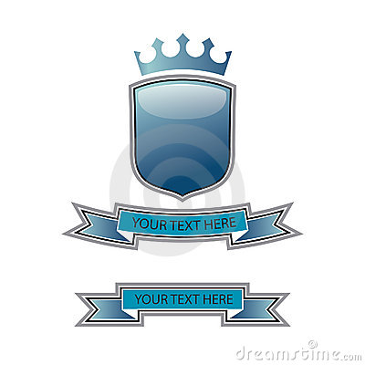 Free Blue Shield Crest Stock Photography - 8359772