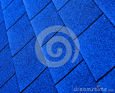 Blue shingle roofing