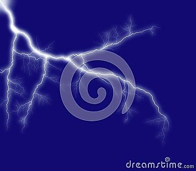 Blue shining lightning