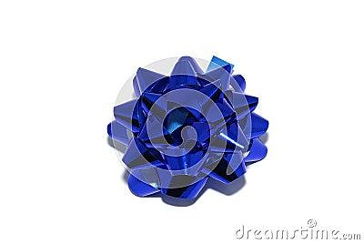 Blue shiny bow