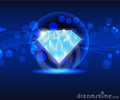 Blue shiny  diamond