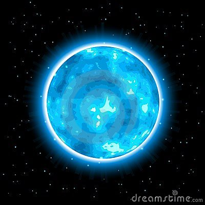 Blue Shiny Planet with Glow